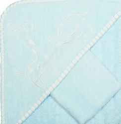 blue safari baby towel set