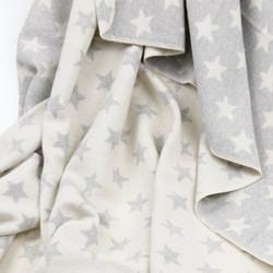 grey stars cot blanket