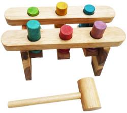 pound a peg wooden hammer game