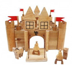 qtoys wooden castle building set