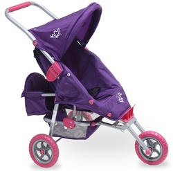 Valco Mini Marathon Doll Pram with Toddler Seat - Purple
