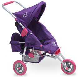 Valco Mini Marathon Doll Pram with Toddler Seat - Purple