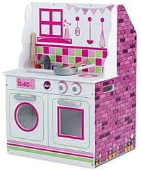 plum wooden kitchen and dollhouse