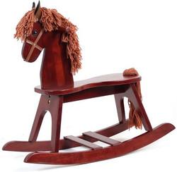 kids wooden rocking horse toy