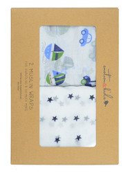 boys muslin wrap gift set