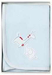 blue safari cotton wrap blanket