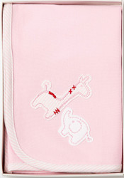 pink safari baby wrap blanket