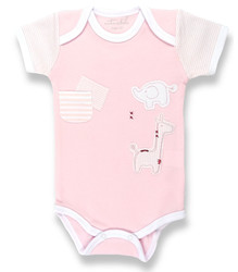 cotton babygrow for girls, designer babygrow