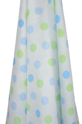 blue and green gelati spots muslin wrap