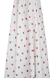 red hearts muslin wrap emotion and kids