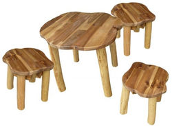 qtoys tree top round table and stool set
