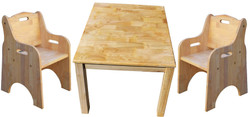 qtoys square table and toddler chair set