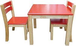 qtoys red top table and stacking chairs