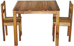 qtoys acacia square table and chairs