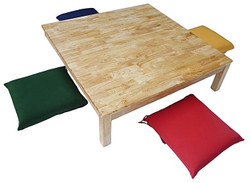 qtoys low square table and 4 cushions