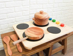 Qtoys Wooden Portable Cook Top