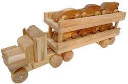 Qtoys Natural Wooden Car Transport Truck