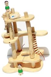 qtoys wooden tree construction toy set