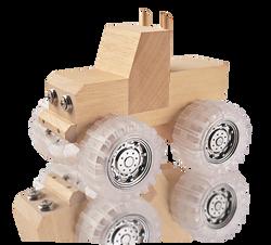 buildme monster toy truck woodwork kids kit