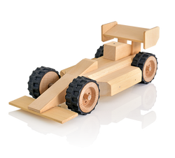 build me racing car wood work toy kit
