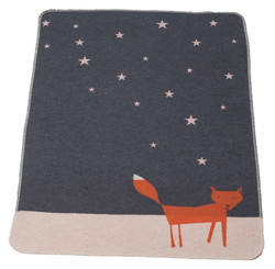 David Fussenegger Juwel Bassinet Blanket - Grey Night Fox