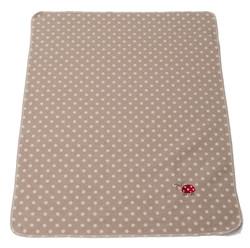 David Fussenegger Juwel Bassinet Blanket - Ladybird Dotted