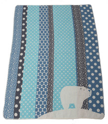 David Fussenegger Juwel Cot Blanket - Blue Polar Bear