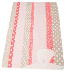 David Fussenegger Juwel Cot Blanket - Pink Polar Bear