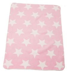 David Fussenegger Panda (Bamboo) Bassinet Blanket - Pink Stars