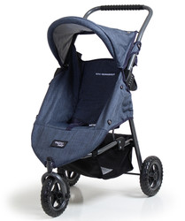valco doll pram in denim