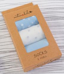 Blue Confetti Baby Sock Set