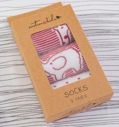 Red Safari Baby Sock Set