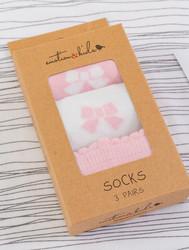 emotion and kids Pink Bow Sock Set