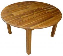 qtoys round acacia table large