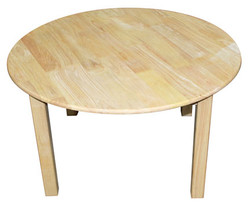qtoys rubberwood round table