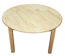 large round table rubberwood