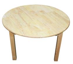 large round table rubberwood