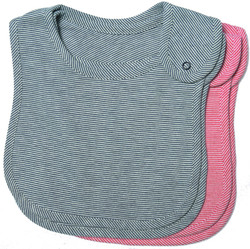 emotion and kids 2piece navy and red cotton baby bibs