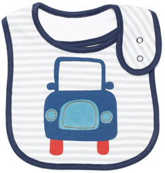 emotion and kids little car cotton baby bib