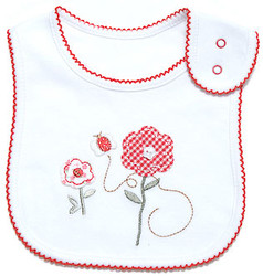 emotion and kids little garden cotton baby bib