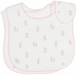 emotion and kids pink poodle cotton baby bib