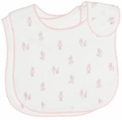 emotion and kids pink poodle cotton baby bib
