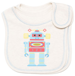 emotions and kids robots 2 piece cotton baby bib