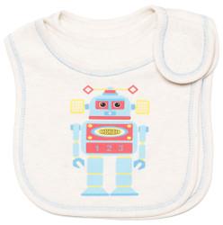 emotions and kids robots 2 piece cotton baby bib
