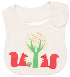 emotion and kids squirrel cotton baby bib