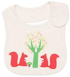 emotion and kids squirrel cotton baby bib