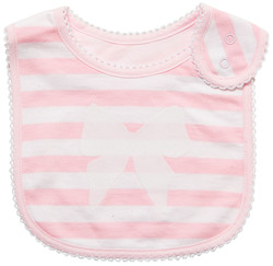 emotion and kids stripe and bow cotton baby bib