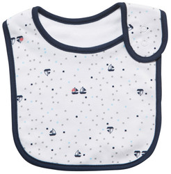 emotion and kids little yachts cotton baby bib