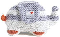 nature's purest my first friend knitted organic elephant toy