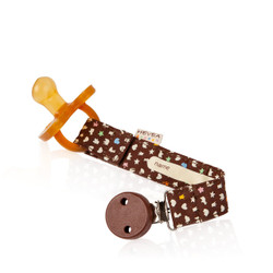 Hevea Organic Cotton Pacifier Holder - brown